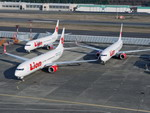 Three Boeing 737-900ERs on 23 December 2009 awaiting delivery to Indonesia's Lion Air. (Boeing).