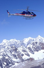 A Eurocopter AS 350 in the Himalayas.