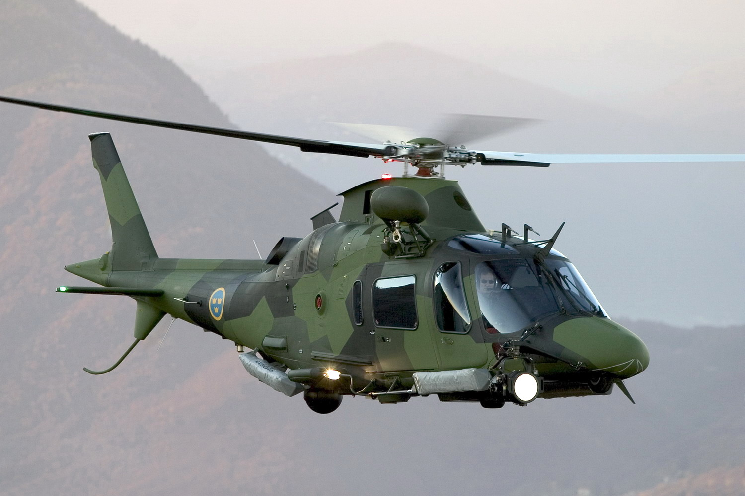 AW109 Helicopter Light Attack ~ Bomba Wallpaper