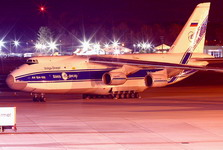 A Volga-Dnepr An-124-100 at night. (Volga-Dnepr)