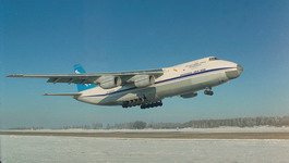 An An-124 taking off in cold weather. (Antonov)
