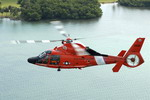 A Eurocopter HH-65 Dolphin from Coast Guard Air Station Miami on 11 November 2007. (CG/PAC Dana Warr)