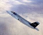 An X-35 prototype of the Lockheed Martin F-35 Joint Strike Fighter (USAF)