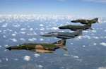 F-4 Phantom IIs formate during a heritage flight over Florida on 8 September 2005. (USAF/MSgt Michael Ammons)