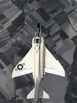A McDonnell F4H-1 Phantom during a test flight on 27 May 1958.