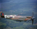 A Supermarine Spitfire in flight. (Canadian Forces Photo)