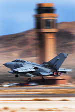 A Royal Air Force Tornado GR4 takes off from Nellis Air Force Base during exercise Red Flag 11-3. (USAF/Staff Sgt William P Coleman)