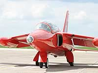 Front view of the Gnat (RAF)