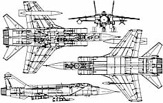 A diagram of the MiG-31 Foxhound